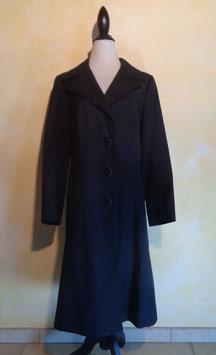 Manteau noir 70's T.40