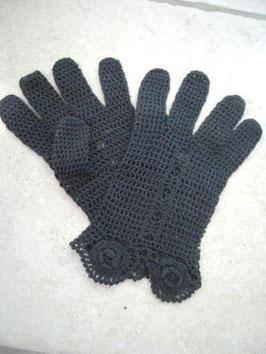 Gants crochet noirs 1900