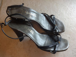 Sandales cuir Chanel P.38