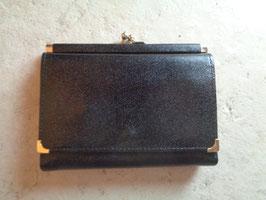Porte monnaie cuir noir