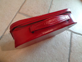 Vanity cuir rouge 60's