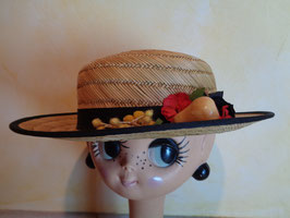 Canotier fruits 50's