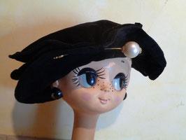 Chapeau velours 60's