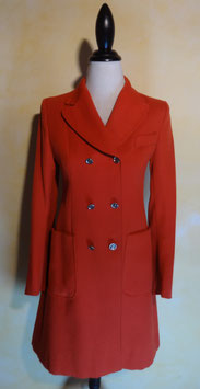 Manteau rouge 60's T.36