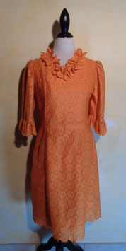 Robe dentelle orange 60's T.38