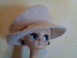 Casquette laine blanche