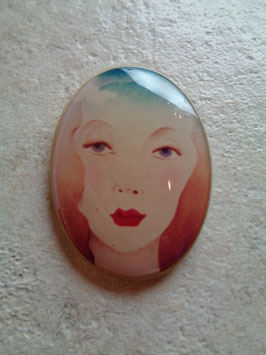 Broche portrait 70's