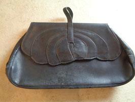 Pochette noire cuir 40's