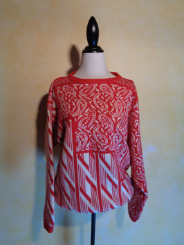 Pull rouge 70's T.42