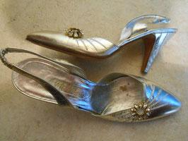 Sandales argentées 60's P.39