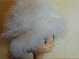 Chapeau autruche blanc 50's