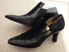 Chaussures cuir et peau 80's P.37