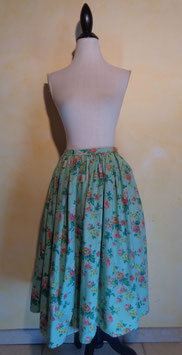 Jupe fleurie 50's T.38