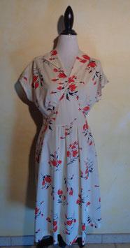Robe fleurs 70's T.40