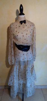 Robe mousseline de soie 1900 T.36