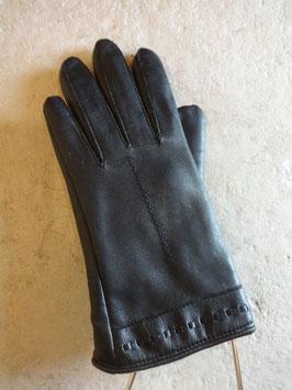 Gants en cuir noirs 60's