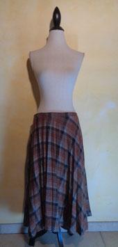 Jupe laine plissée 70's T.40