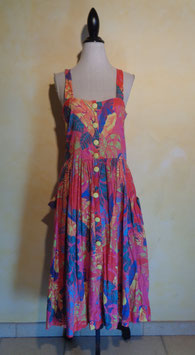 Robe tropicale 90's T.40