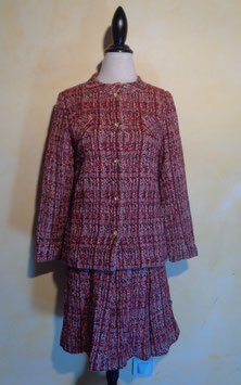 Ensemble laine rouge 70's T.36