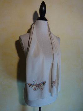 Foulard soie papillon