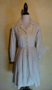 Robe laine blanche 70's T.36