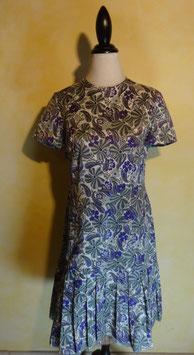 Robe florale plissée 60's T.38