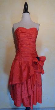 Robe rouge 80's T.36