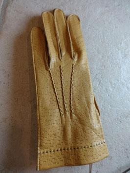 Gants cuir marron clairs 70's