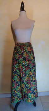Jupe power flower 70's T.44