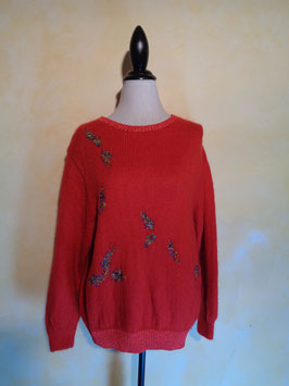 Pull rouge 80's T.40