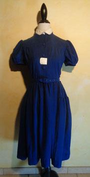 Robe laine bleue 50's T.36