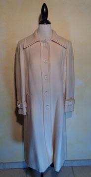 Manteau laine blanche 70's T.40
