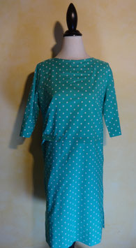 Robe pois turquoise 60's T.38