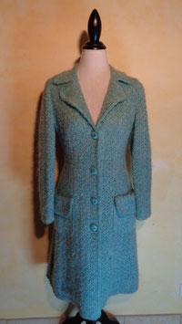 Manteau en laine bleue 60's T.36