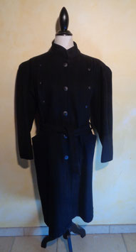 Manteau laine noir 80's T.42