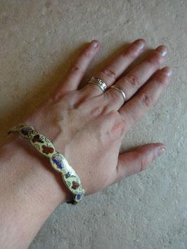 Bracelet émail papillons