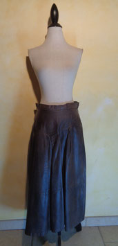 Jupe cuir 80's T.38