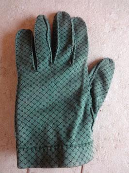 Gants tissu verts 40's