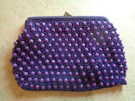 Pochette perles violettes 60's