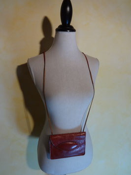 Pochette cuir rouge 70's