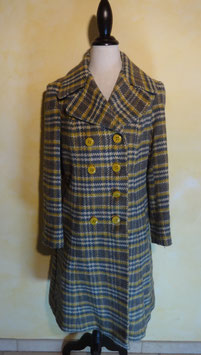 Manteau carreaux 70's T.38