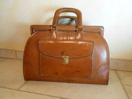 Doctor's bag cuir 50's
