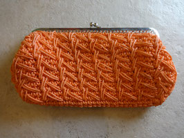Pochette macramé orange 70's