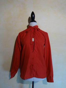 Chemise lavalière rouge 70's T.38