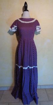 Robe hippie violette 70's T.36