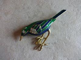 Broche oiseau strass