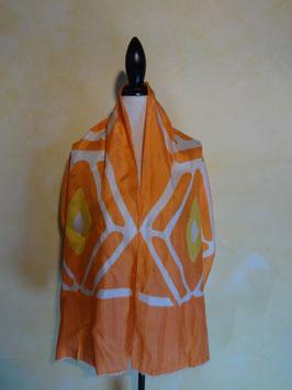 Foulard orange soie 60's