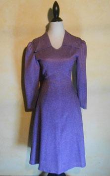 Robe laine violette 70's T.38