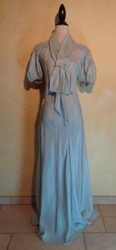 Robe taffetas bleu 40's T.36