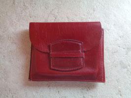 Porte monnaie cuir rouge 60's